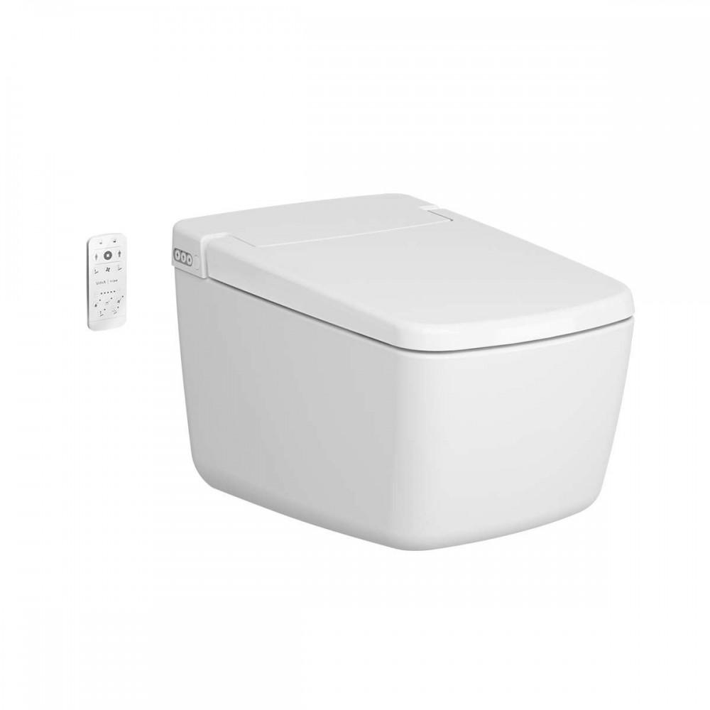 Vitra V-Care Prime Rim-Ex Smart Wall Hung Shower toilet