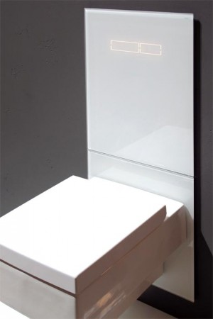 TECE lux glass toilet flush plate with electronic sen-Touch actuation