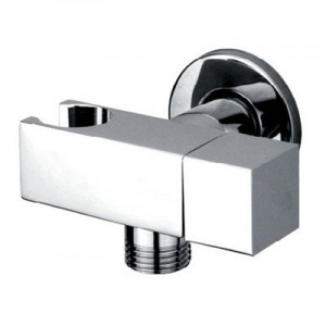 Maro D'Italia  angled isolating valve with bracket, holder and water flow regulation / Ø22 - G1/2""