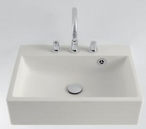 Agape BLOCK Rectangular washbasin