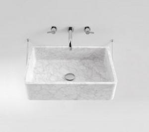 Agape CARRARA Washbasin in Carrara marble