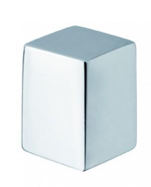 square deviator button brass chrome plated