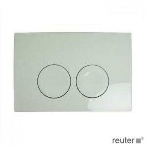 Geberit Delta21 dual flush plate white 115125111