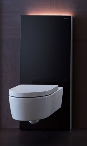 Geberit Monolith Plus sanitary module for wall-mounted toilet H: 101 cm black 131222SJ1