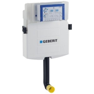 Geberit Sigma concealed cistern 12 cm, 6 / 3 litres, ship model, with front actuation