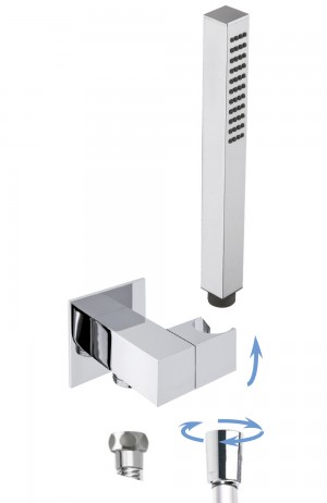 square adjustable water supply holder with GIO handshower