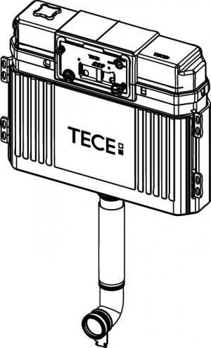 Tece profil Uni Cistern incl. Pipe, front actuation, install. 9820103