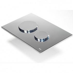 united kingdom  TECE loop toilet flush platee system shiny chrome 9240626