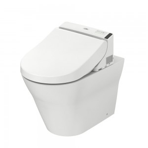 Combination WASHLET GL 2.0 (with side connections) + TOTO WC MH, back-to-wall, floor-standing CW163Y