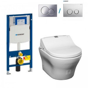 turnkey turn key all in one bidet seat wall hung rimless japanese toilet