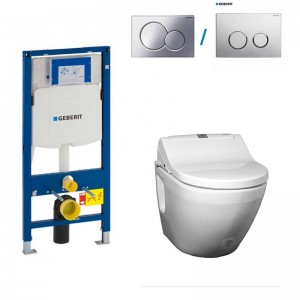 turnkey turn key all in one bidet seat wall hung rimless japanese shower toilet