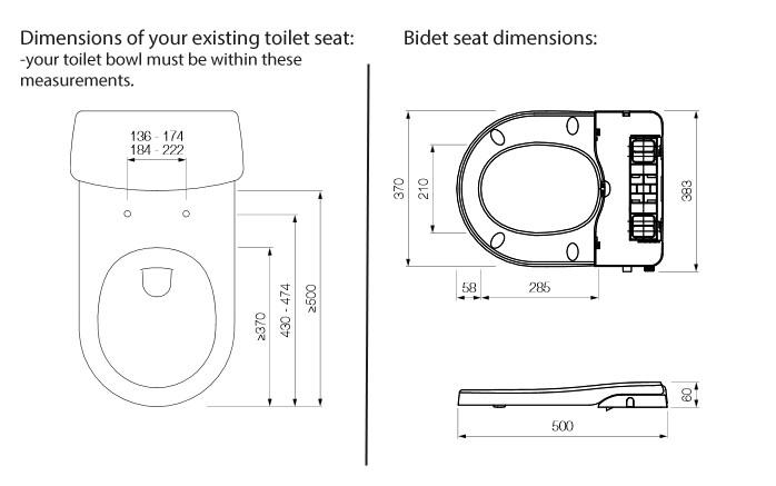 Maro D Italia Fb104 Non Electric Bidet Toilet Seat Tooaleta
